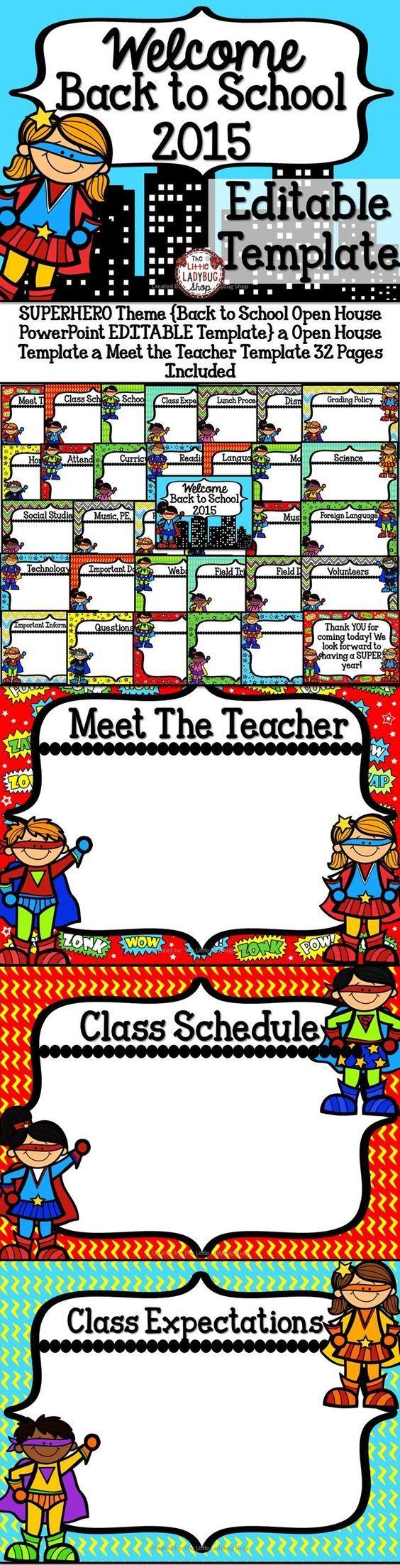 best 25+ meet the teacher template ideas on pinterest | teacher, Modern powerpoint
