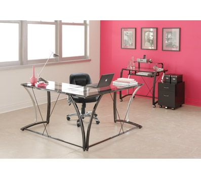brenton studio evanti glass l desk by office depot u0026 officemax