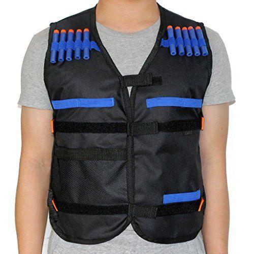 HONGCI Kids Tactical Vest Sets for Nerf Toy Guns N strike Elite   Black (comes with 20pcs 7.2cm Foam Bullets). #HONGCI #Kids #Tactical #Vest #Sets #Nerf #Guns #strike #Elite #Black #(comes #with #Foam #Bullets)