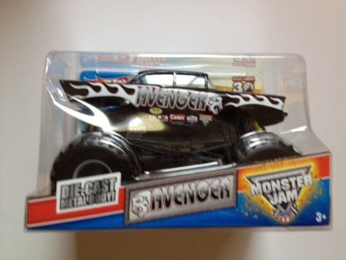 Hot Wheels Monster Jam AVENGER Truck 1:24 Scale Die-cast Vehicle by Mattel. $24.04. Official Monster Jam Die-cast Truck. Monster Jam 1:24 Diecast Series (larger size). Crush the Competition with this 1:24 scale Hot Wheels Monster Jam truck! Let the dirt fly with these ground-pounding Hot Wheels Monster Trucks. Rev up for total domination and destruction on the Monster Jam circuit. It's unstoppable, in-your face Monster Jam madness! Get it before it's gone! For ages 3+