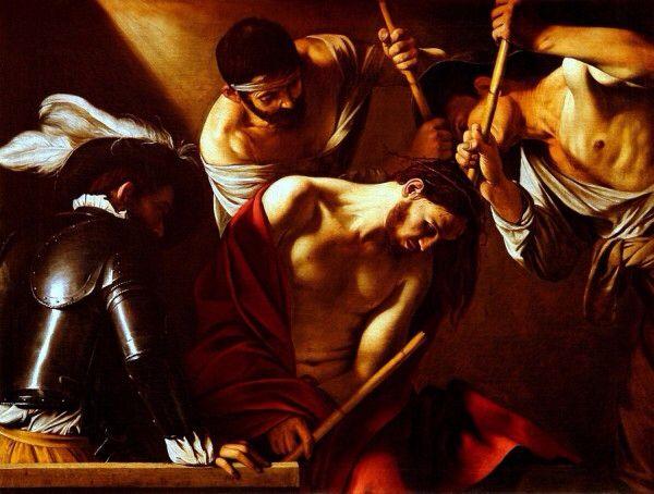 La coronación de espinas  Caravaggio 1602