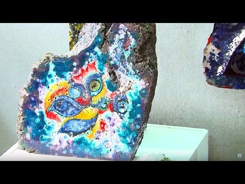 An art form that stems from the very heart of this land: the decoration of lava stone - YouTube