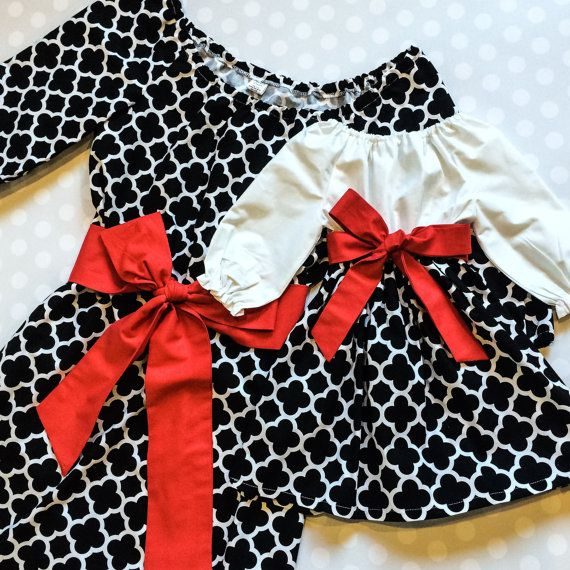 Mommy and Me Dresses  Mommy and Me Christmas by crocodilecrunch