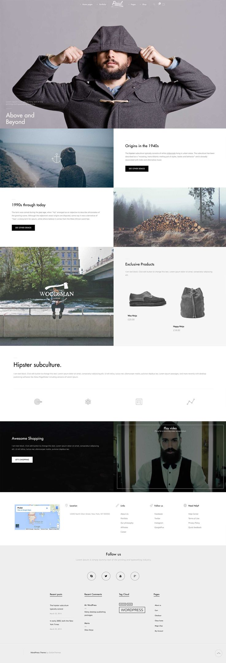 PAUL – CREATIVE MULTI-PURPOSE WORDPRESS THEME