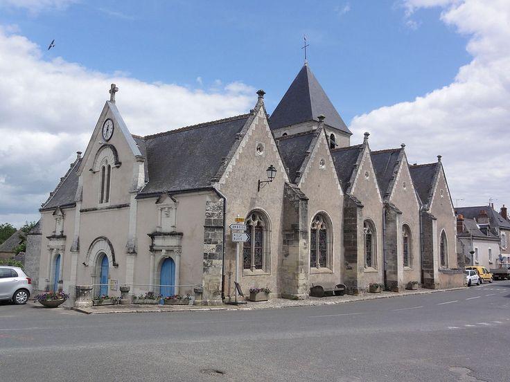 Mosnes (Indre-et-Loire) - L'église Saint-Martin.