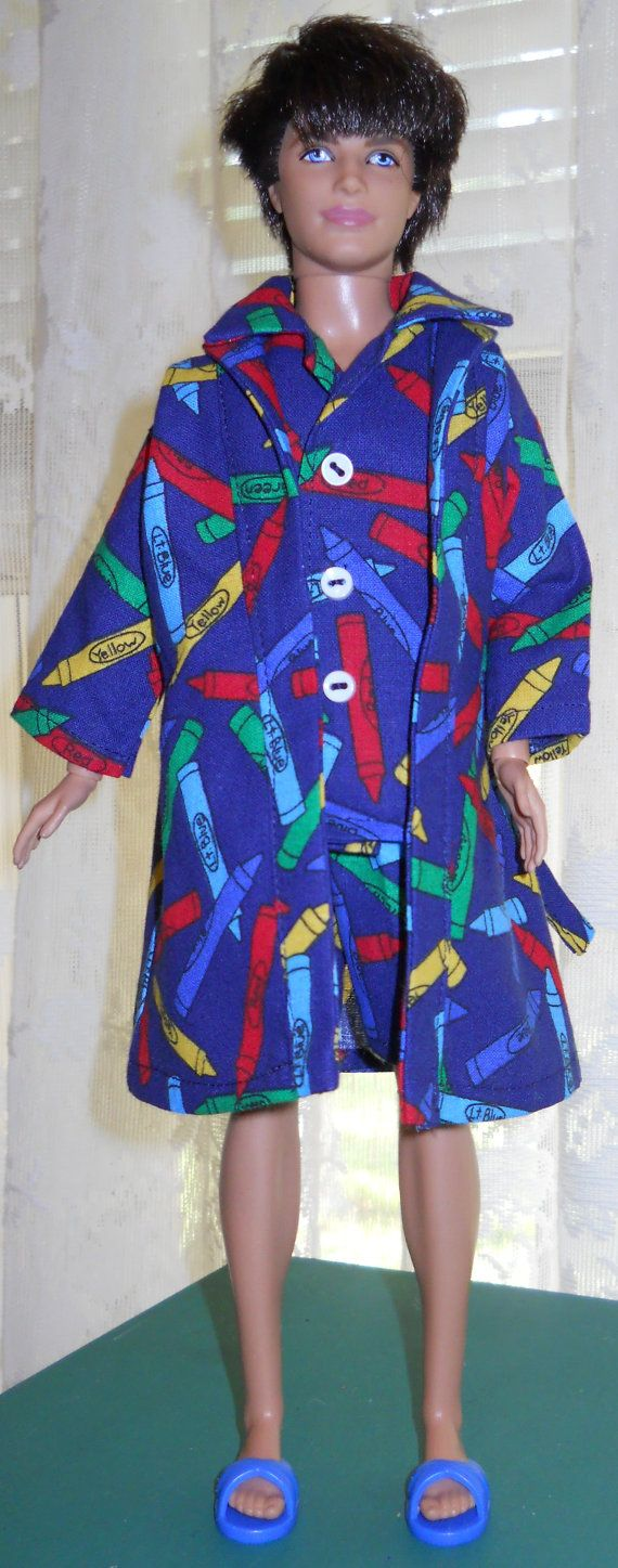 Handmade Ken cotton summer pajamas with by AuntieLousCrafts, $10.00