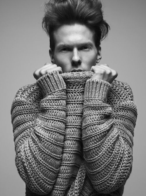 menswear kint - inspiration. can something like this be translated to crochet? i surely think so.