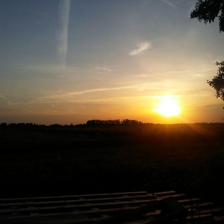 Onder gaande zon