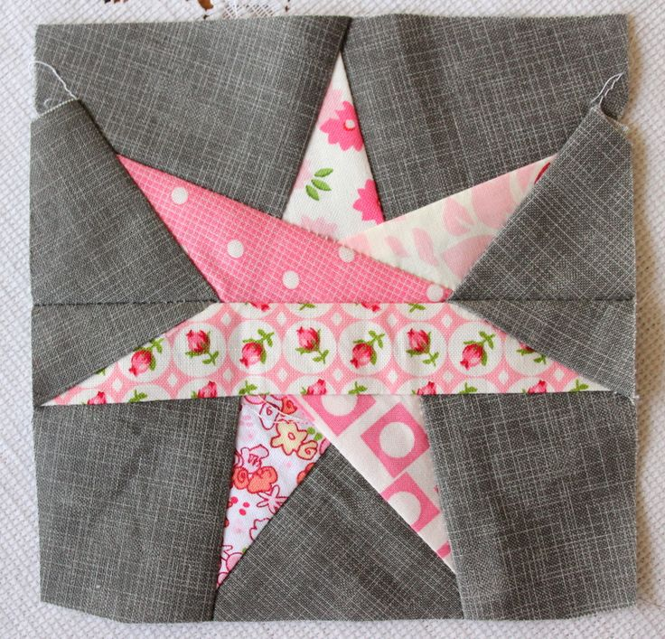 I Have to Say's 7 Point Star Block made with pattern from Sew Hooked (link provided).  Lots of paper pieced blocks on Sew Hooked link.