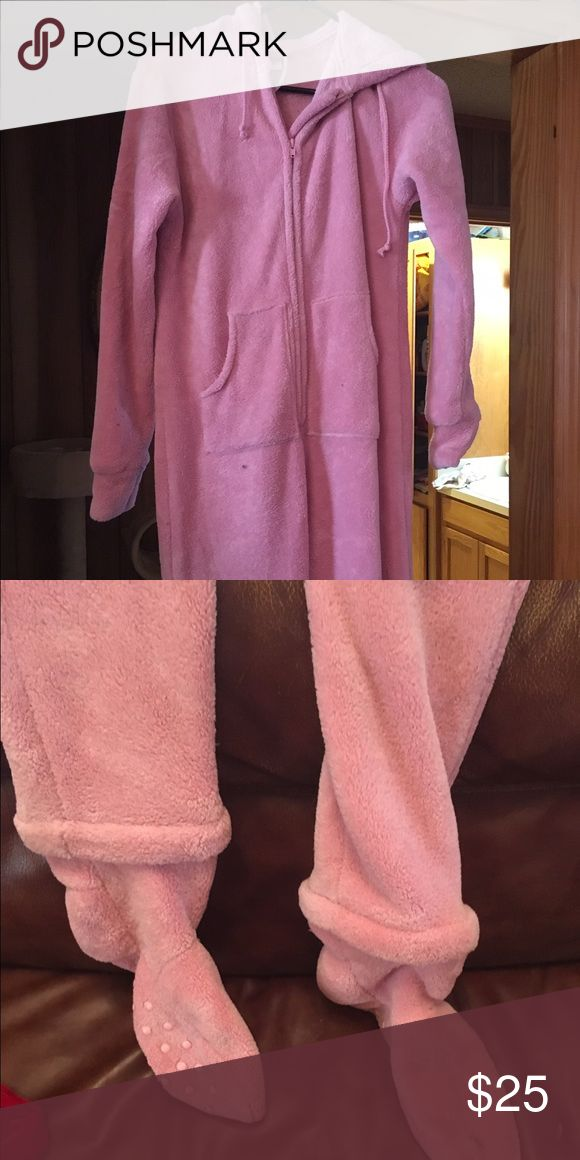 Women's Footed Pajamas Size med. Super soft fleece-like feel. Feet can be detached via zipper. Other