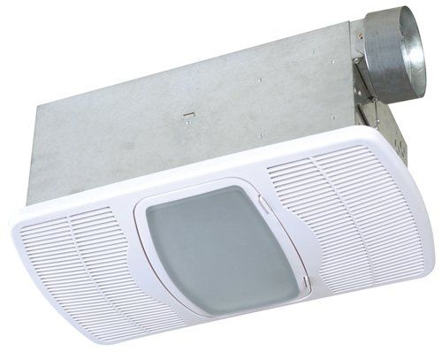 shop for the air king white 70 cfm hvi certified sone exhaust fan with integrated light and heater from the combination heater collection and save