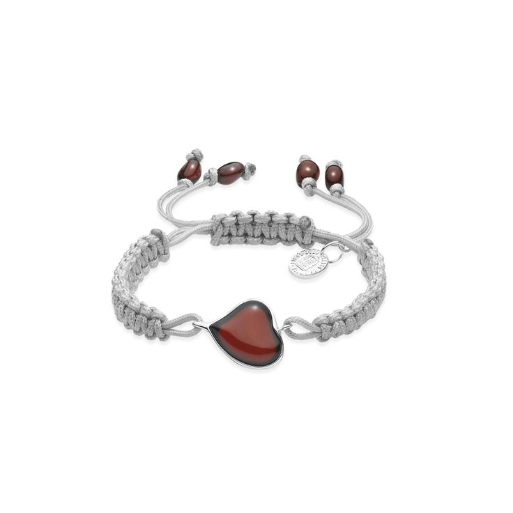 House of Amber - Knotted string bracelet with cherry amber.