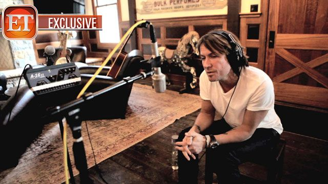 Keith Urban recording Fuse. I love the way he always has to stomp/clap to the beat