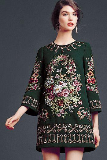 Dolce Gabbana 2014 FW. A gorgeous dress.