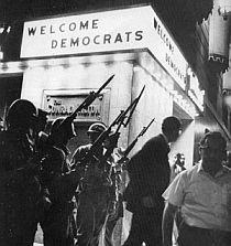 National Guardsmen at the Conrad Hilton Hotel at the Democratic National Convention. more disturbing TV news.