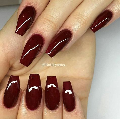nails acrylic maroon red 52 ideas with images  red gel