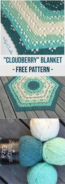 Cloudberry Blanket [Free Crochet Pattern] #crochet #blanket #crochetlove