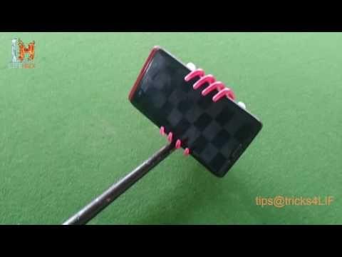 make selfie stick in 5 seconds