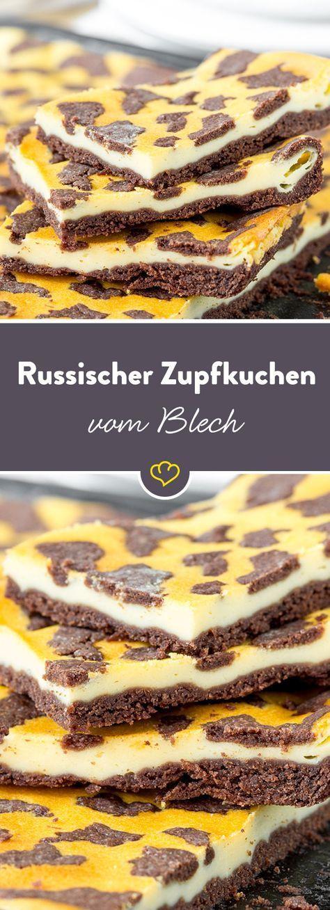 Du bekommst einfach nicht genug von Russischem Zupfkuchen? Oder du möchtest all deine Freunde zum Kaffeeklatsch einladen? Dann brauchst du dir ab jetzt keine Sorgen mehr zu machen, dass dir der Kuchen ausgeht: Groß und eckig schmeckt der Klassiker nämlich genauso unwiderstehlich gut wie klein und rund – cremig, schokoladig, zart.