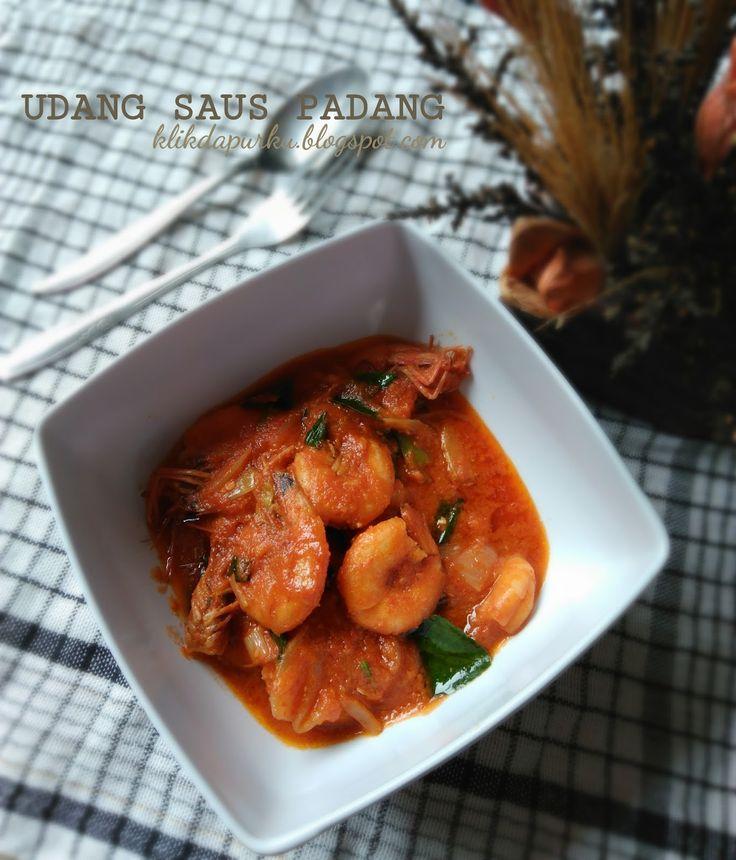 Ini dia resep udang saus Padang..  Enak dirasa enak dipandang...  Tak pedas seperti rendang..  Cocok untuk makanan rantang...  ...  Tang...