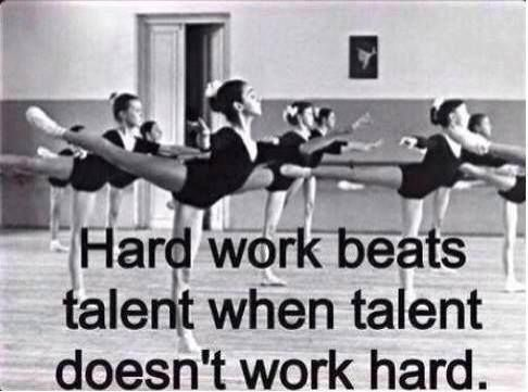 """Hard work beats talent when talent doesn't work hard."""