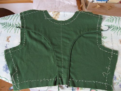 For the bodice I use a pattern a seamstress drafted according to my measurements during a sewing course.  Cut the pattern, from the rest of ...