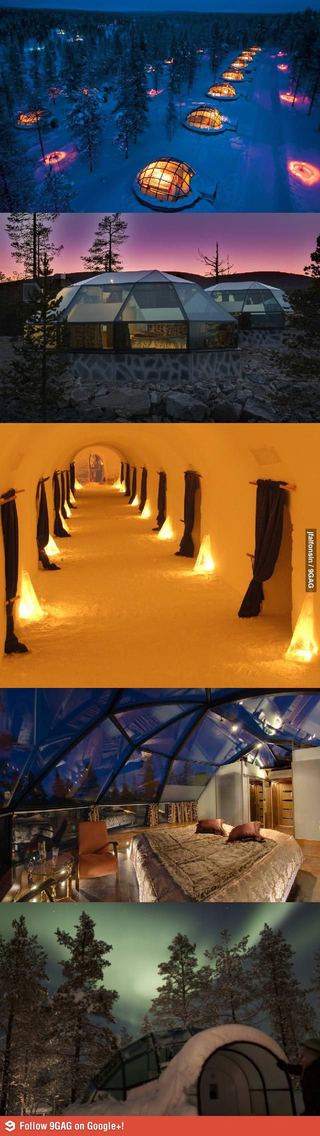 Hotel in Finland for watching the northern lights... I want to go here.