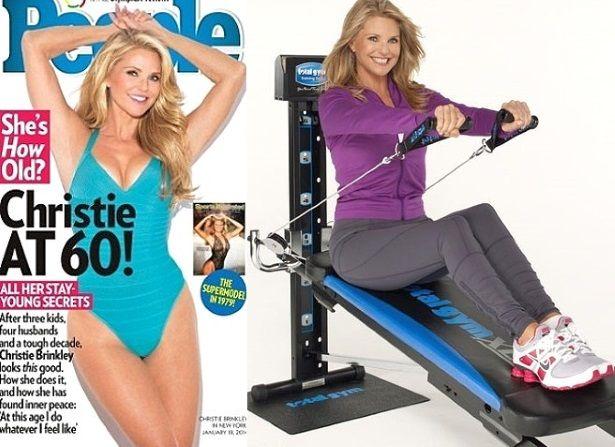 christie brinkley total gym                                                                                                                                                      More
