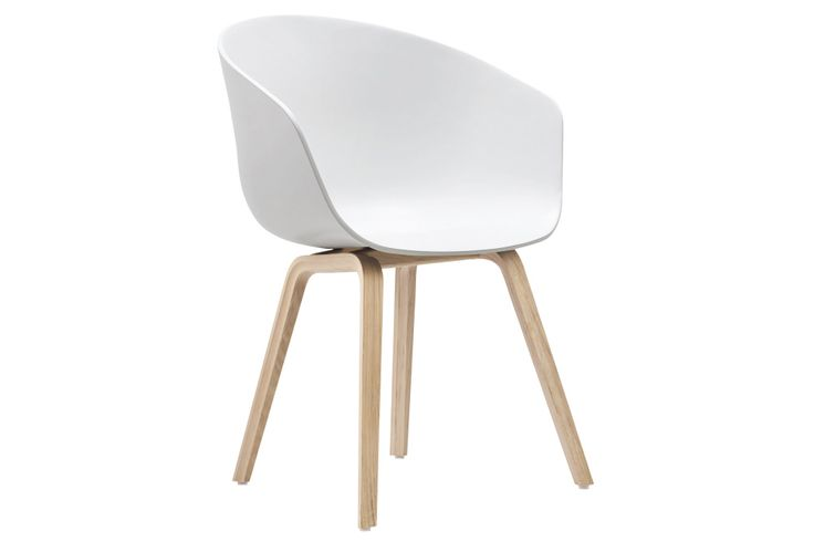 About A Chair AAC22 Lacquered Oak, White by HAY