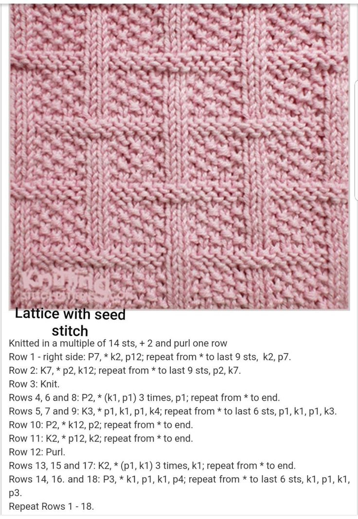 Learn How To Knit The Fishnet Lace Knit Stitch In