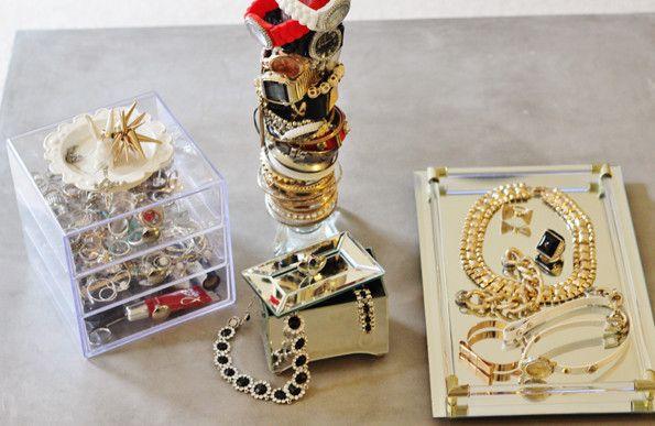 Guest Post - Sarah's Airy Mirrored DIY Jewellery Storage | Castellammare Jewellery