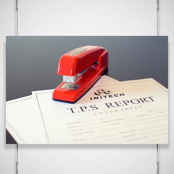 Red Swingline Stapler Photography - 8x12 photograph print - Office Space