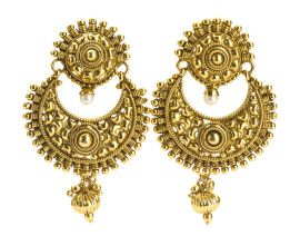 You search ends. The classic #chaandbali #antique #polki #earrings gold plated. Shop for INR 850 only at buybejeweled.in