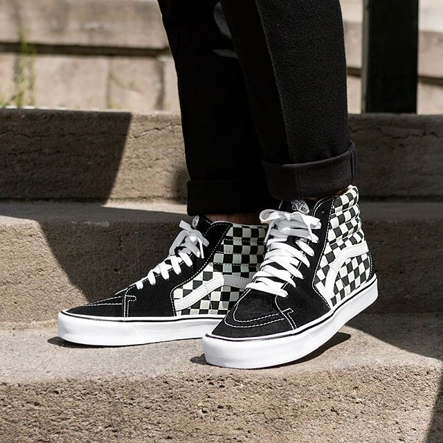 Vans Sk8-Hi Lite *Checkerboard* (Black / White) in 2019 | insp ...