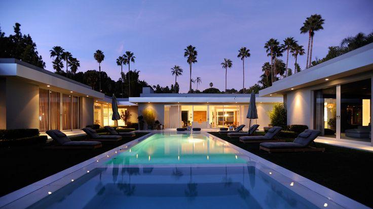 Modern Pool House Interior