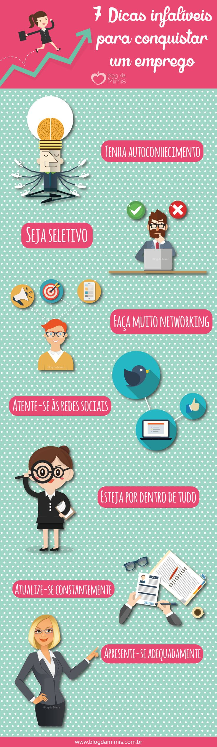 7 Dicas infalíveis para conquistar um emprego - Blog da Mimis #tips #dicas #emprego #criatividade #trabalho #comportamento #networking #rh