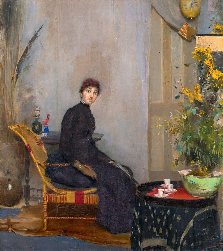 Tom Roberts, Mrs L A Abrahams 1888, Fade Resistant HD Art Print or Canvas in Art, Prints   eBay