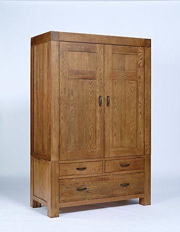 Oak Furniture Solutions - Santana Reclaimed Oak Double Wardrobe. £799 (sale - usually £1,885).