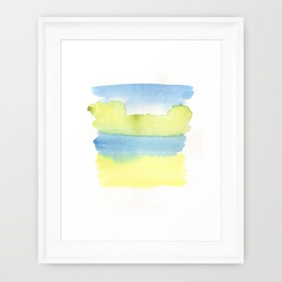 Buy blue and yellow Framed Art Print by ©valourine. Worldwide shipping available at Society6.com. Just one of millions of high quality products available. checkout society6.com/valourine?curator=valourine  #watercolor #watercolours #abstract #painting #decor #interior #interiordesign #homedecor #contemporary #modern #art
