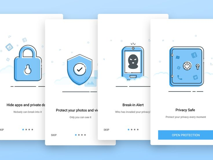 Welcome page of a mobile security APP by donghi