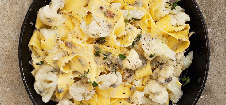 Recept: Pappardelle met bloemkool en gorgonzola