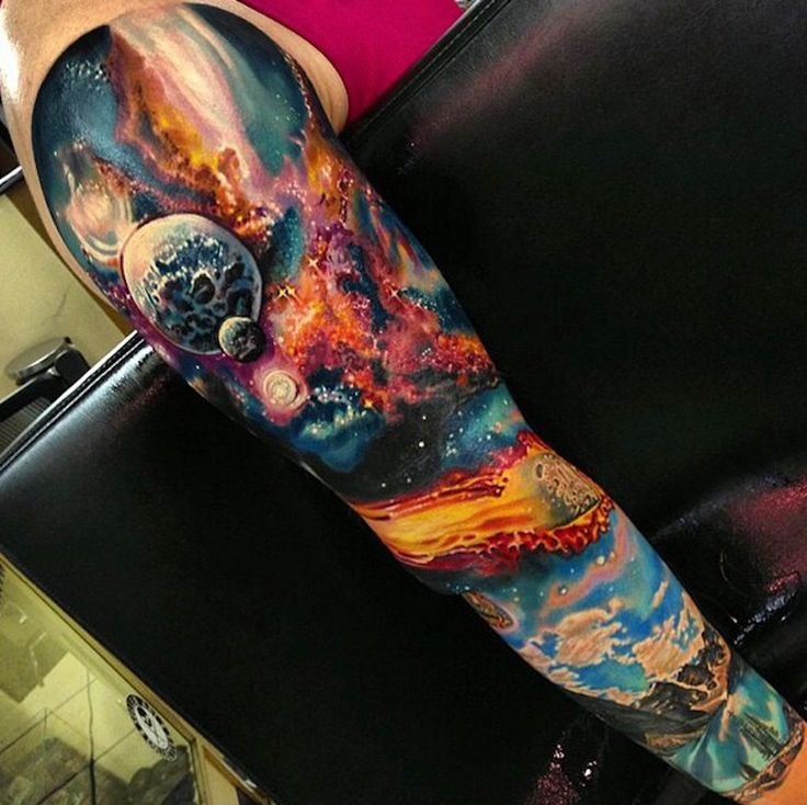 space tattoo sleeve                                                                                                                                                                                 Más