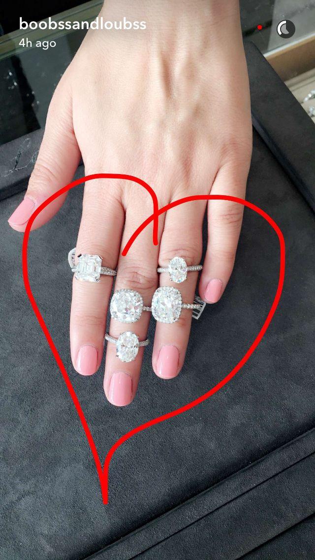 morgan stewart snapchats engagement rings boobsandloubs