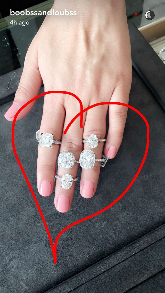 morgan stewart snapchats engagement rings boobsandloubs