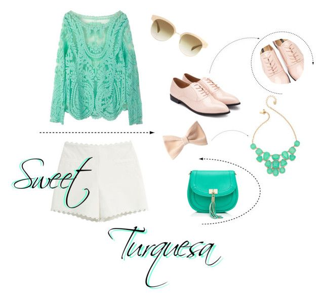 Sweet Turquesa by tamaraispeople on Polyvore featuring Moschino Cheap & Chic, Forever 21, Forever New, Kate Spade and Oliver Peoples
