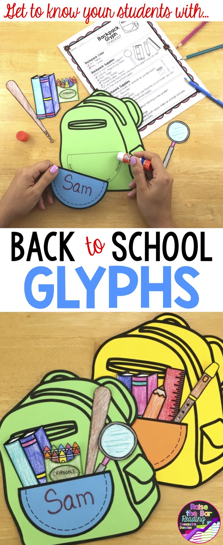 Back to school design background with primary subject matter school - Back To School Glyphs 4 Fun Back To School Craftivities