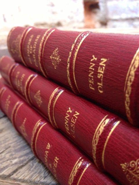 Bespoke fine binding.  Goatskin leather with gold tooling #boundinbendigo