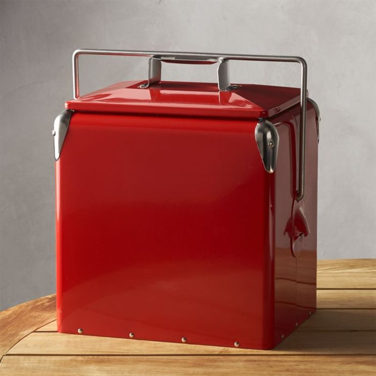 Shop Red Picnic Cooler.  A new take on a nostalgic classic refreshes food and beverage service for day trips, picnics and entertaining.