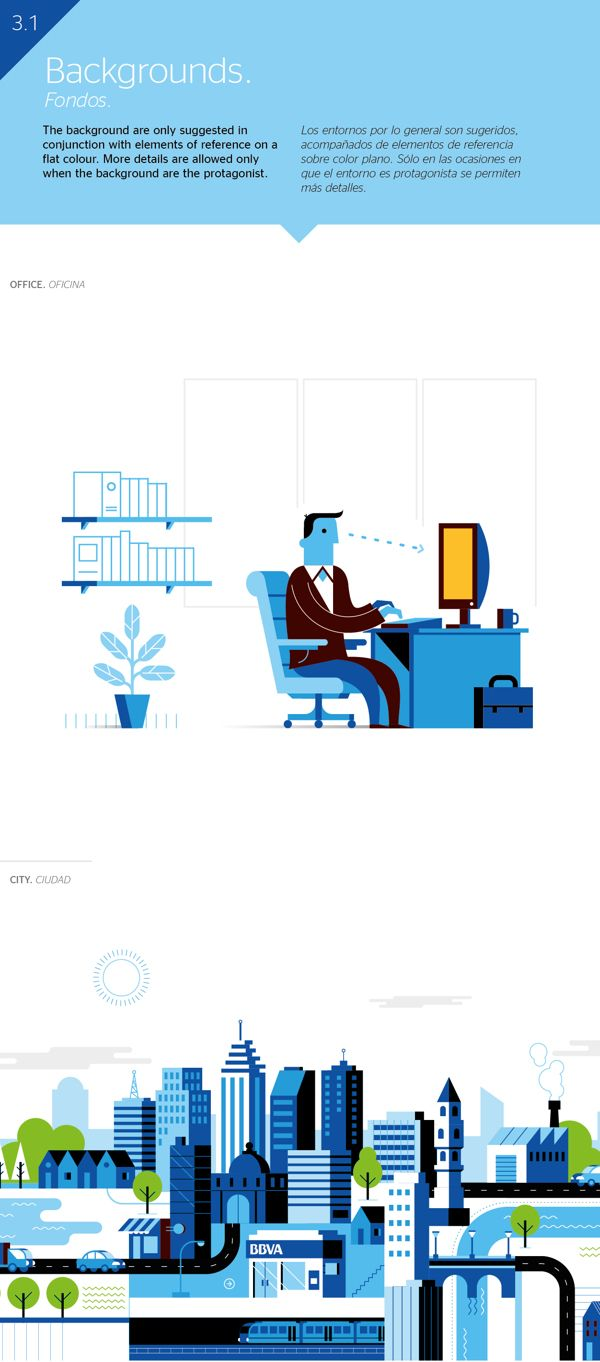 BBVA Corporative Illustration by Mauco Sosa, via Behance #Corporative #Illustration