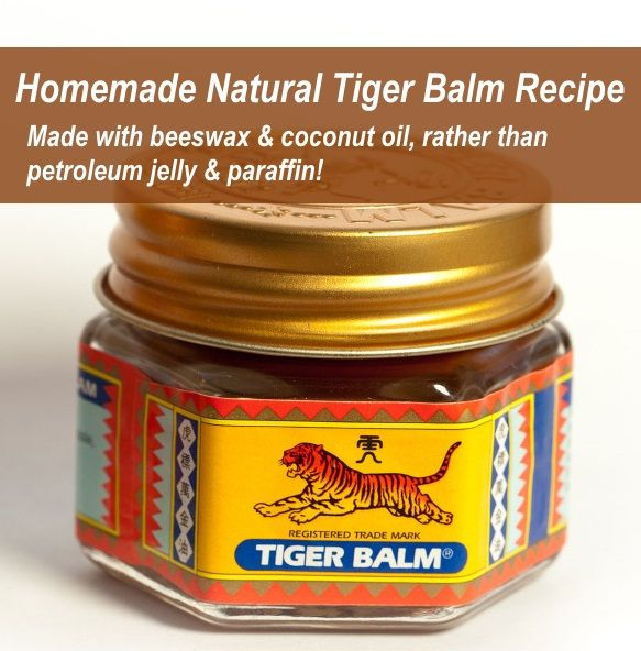 Homemade Tiger Balm Recipe: All Natural!   Now you can make your own natural version of Tiger Balm with this homemade Tiger Balm recipe